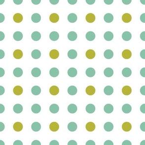 PolkadotsBlue Green Dot|Whimsy Floral|Renee Davis