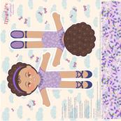 Ballerina Paperdolls-lilac doll