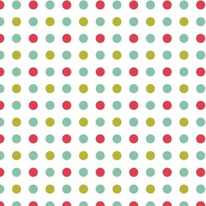 Polkadots| Pink Green Blue Dot|Whimsy FloralRenee Davis