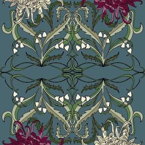 Large-Scale Art Nouveau Mums