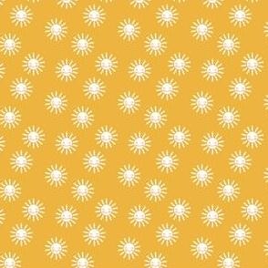 (micro scale) Sunshine - cute suns - golden yellow - C20BS