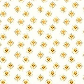(micro scale) Sunshine - cute suns - cream - C20BS