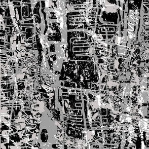 Black and White Bark Forest with Scribbly Gums - Darker