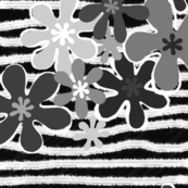 Black and White stripy flowers