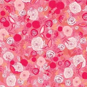 Pink Flowers |Romantic Floral|Renee Davis