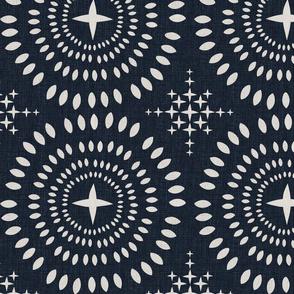 Southwest Mandala-XLarge-Ecru On Soft Black