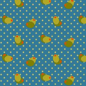 Olive Polka Dots 8in - Trinidad