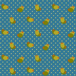 Olive Polka Dots 6in- Trinidad