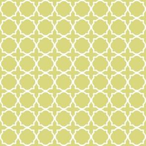 Green Quatrefoil Trellis|Whimsy Floral|Renee Davis