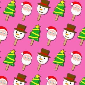 christmas bubblegum ice cream on pink