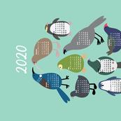 New Zealand Bird 2020 Tea Towel