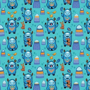 Turquoise Forest monsters small