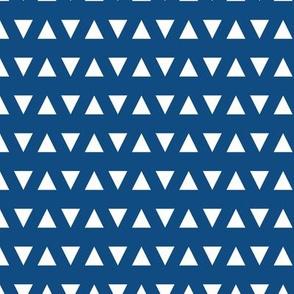 classic blue triangles