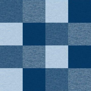 4 Blues Textured Squares