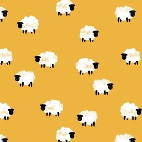 (small scale) sheep - lamb spring - yellow - LAD20