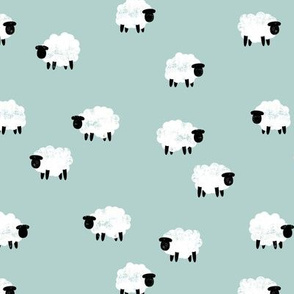 (small scale) sheep - lamb spring - mint - LAD20