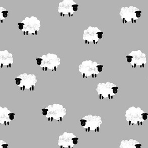 (small scale) sheep - lamb spring - grey - LAD20