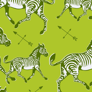 Galloping Green Zebras