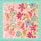 Bloom and Grow-fat quarter panel