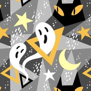 Spooky Color Block in Grey
