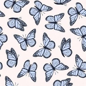 (small scale) Monarch butterflies -  peri on pale pink - LAD20