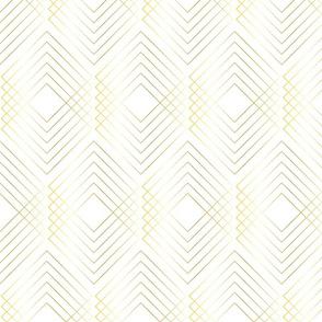 Art Nouveau Geo White Gold