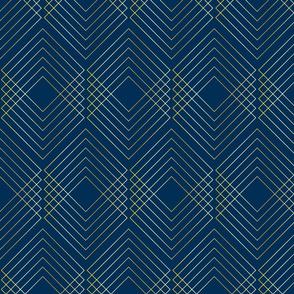 Art Nouveau Geo Navy