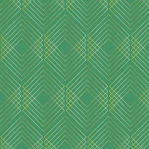 Art Nouveau Geo Green