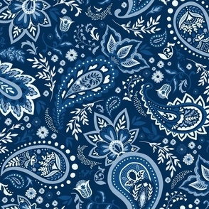 Blue Soma Paisley