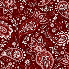 Red Soma Paisley