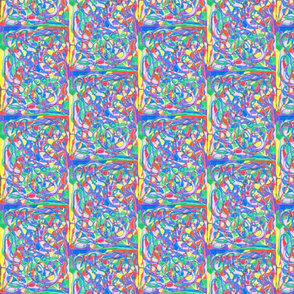 SCRAMBLED COLORS SMALL-HALF DROP