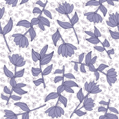 Floral pattern_classic blue