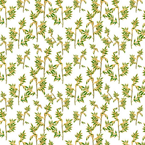 Soft green and gold leaves