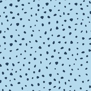 Snow flake dots and cheetah animal print spots navy blue baby