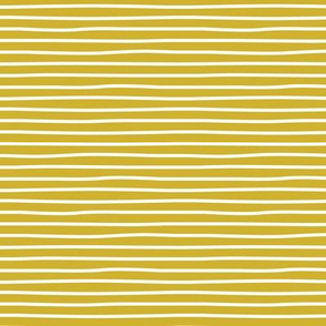 Irregular hand drawn stripes breton marine Parisian style minimal basic mustard yellow