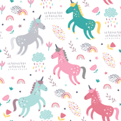 Cute magic unicorns