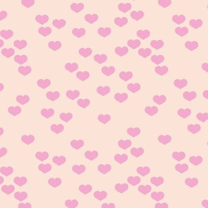 Little lovers small hearts basic minimal trend heart print soft sand pink girls