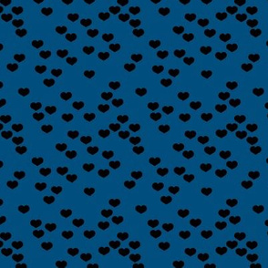 Little lovers small hearts basic minimal trend heart print classic blue winter night
