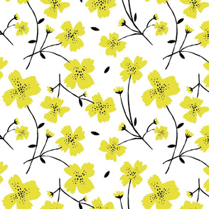 YELLOW FLOWERS 12""