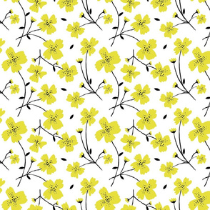 YELLOW FLOWERS 8""