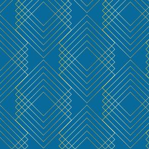Art Nouveau Geo Blue