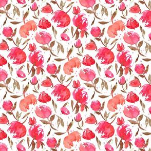 Bloom Bloom Pow Red B| Smaller Pink Red Flowers|Renee Davis