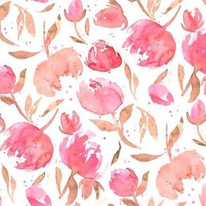 Bloom Bloom Pow Pink|Flowers Dots|Renee Davis