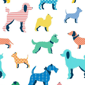 Patterned Dogs - vibrant BIG