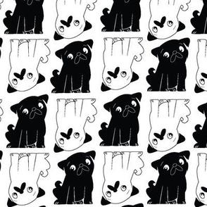Pug Squared Black and White
