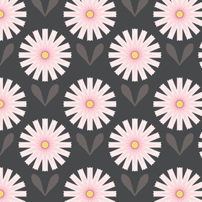 Daisies on Warm Gray