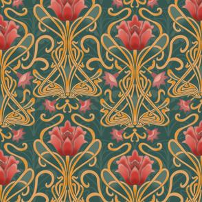 Normal scale • Art Nouveau flowers