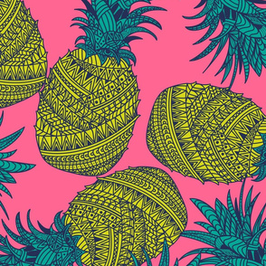 Pineapple Wrap - Hot Pink - LS