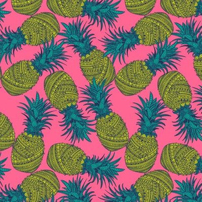 Pineapple Wrap - Hot Pink - Small