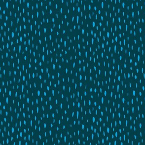 Little spots and stripes hairy ink texture minimal scandinavian style trend teal blue